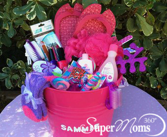 Super moms 360 article holiday and seasonal fun colorful if your little girl loves to pamper herself our mani pedi party basket is perfect negle Choice Image