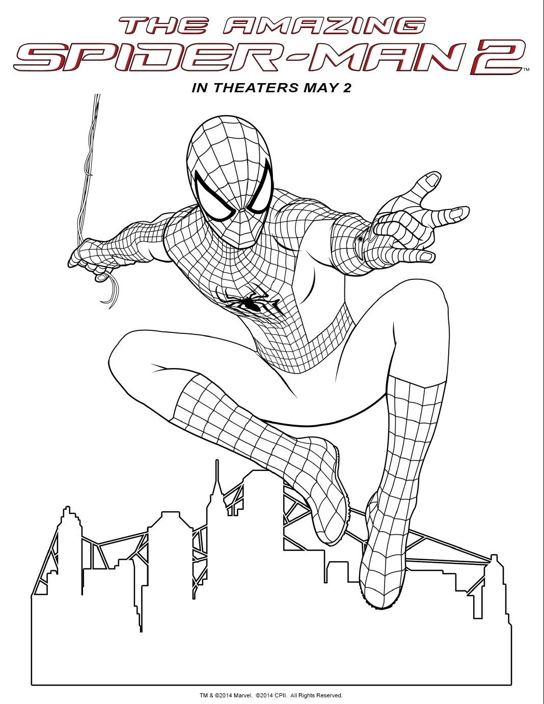 spiderman 3 venom coloring pages - photo#31