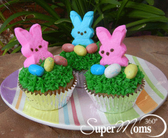 Super moms 360 article holiday and seasonal fun easy easter easy easter cupcakes negle Images