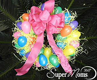 Recycle Your Plastic Easter Eggs And Create This Adorable Decorative Wreath A Simple Craft To Do With Kids